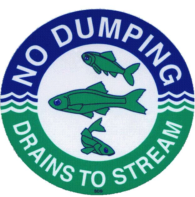 The drains will be marked with durable tiles that contain the message, ?No Dumping ? Leads to Stream,?